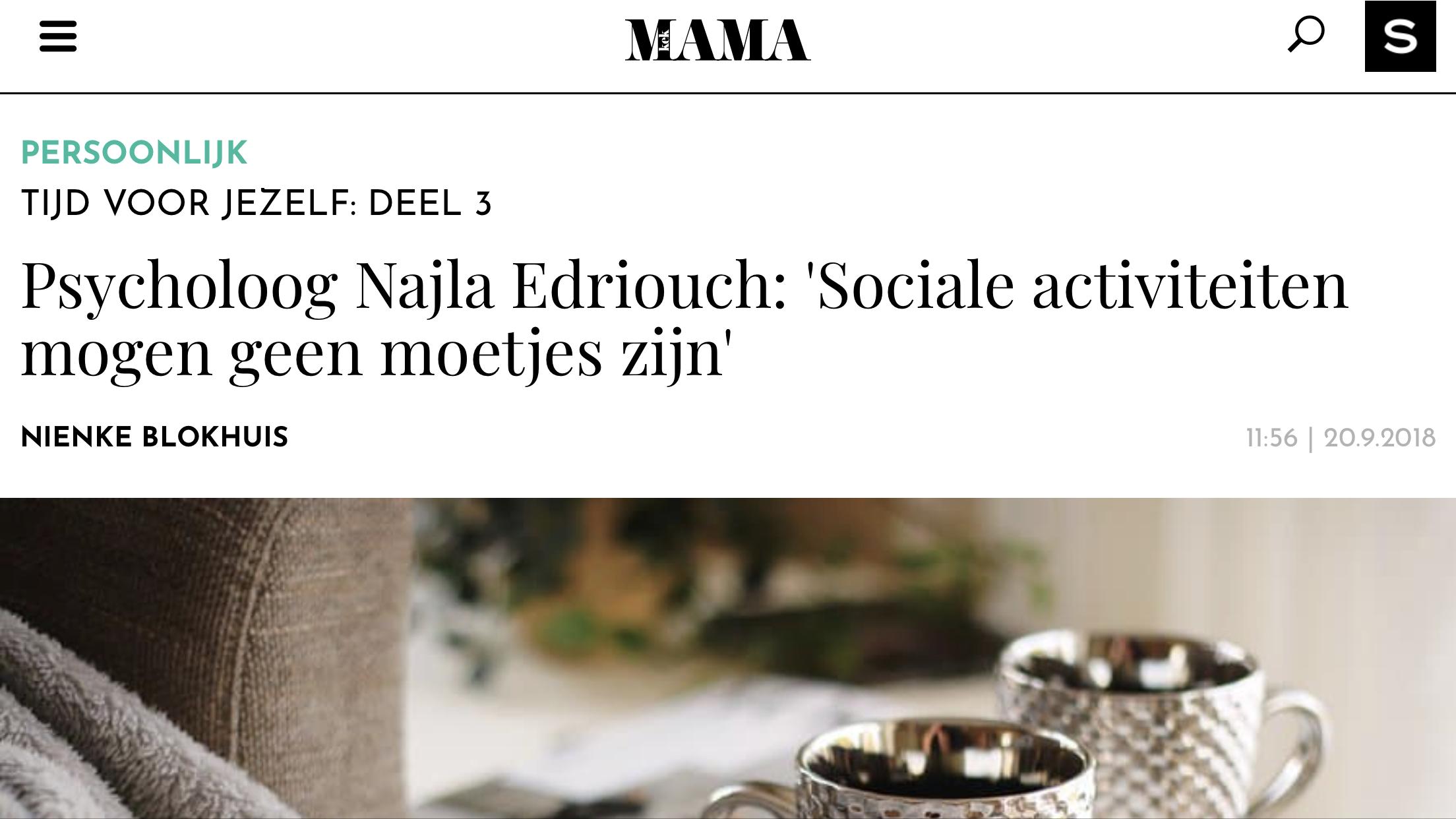 Psycholoog Najla In De Media Kek Mama